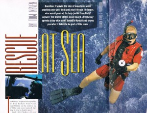 "Chuck in 1999 ""Rescue at Sea"" magazine article about Coast Guard Helicopter Rescue Swimmer"