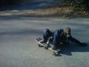 Ed sliding on his Carver!