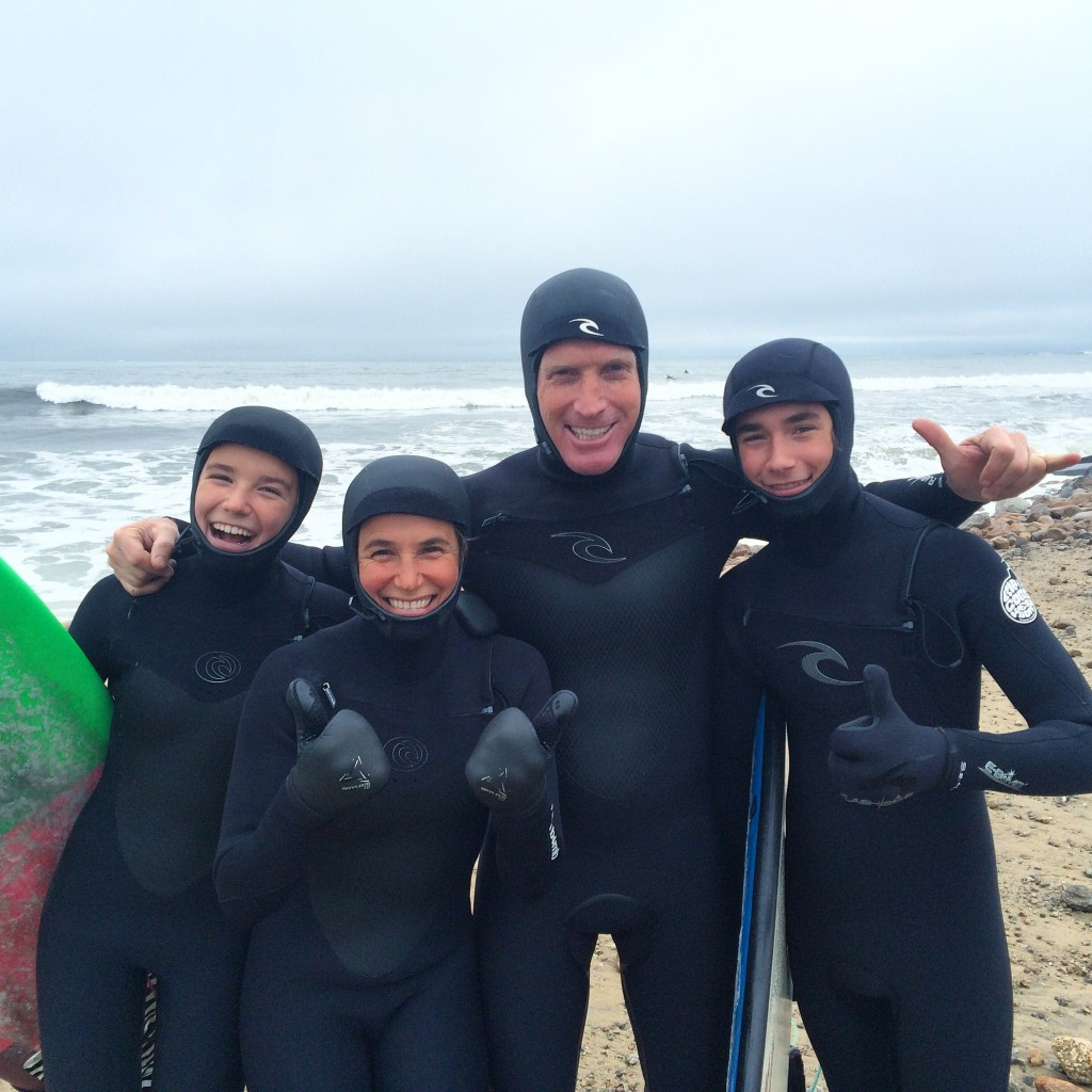 Barend family Christmas day surf session!