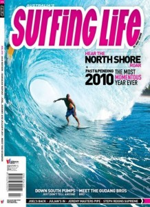 Australian Surfing Life - Dorian gets April 2011 cover surfing Back Door Pipe.