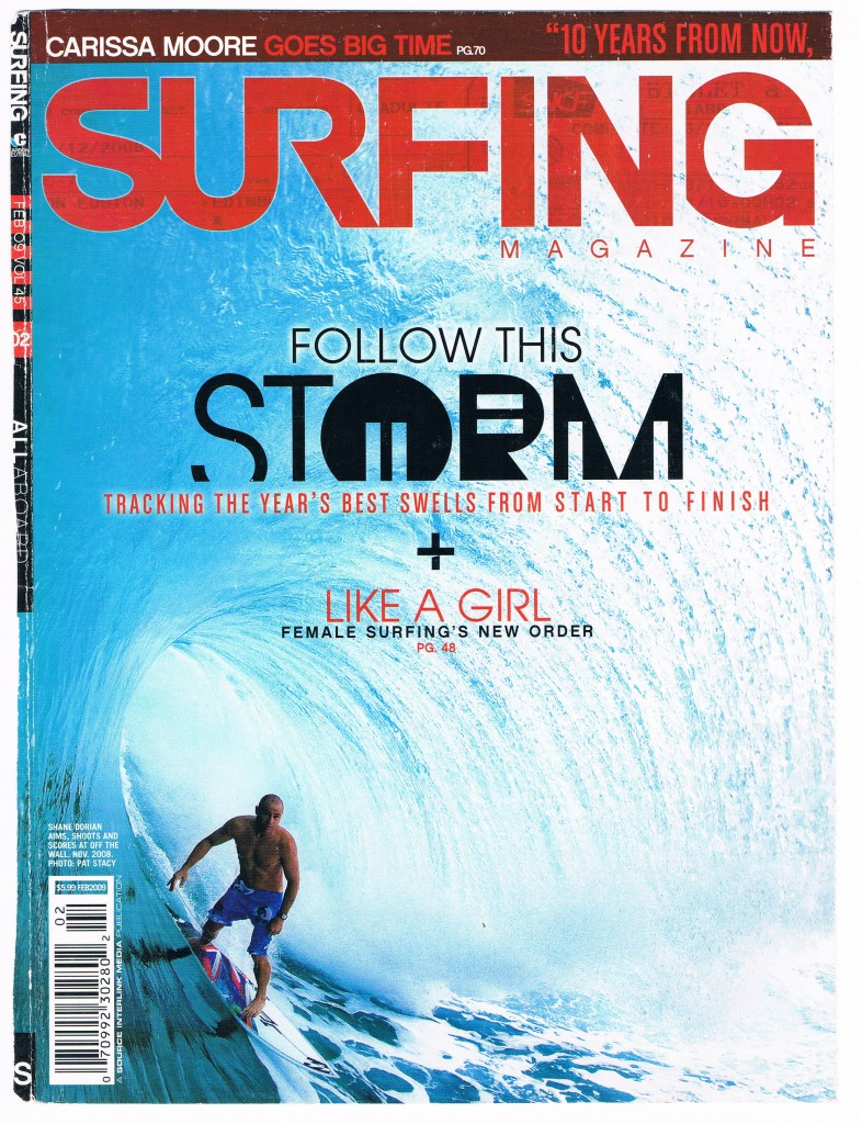 Dorian on cover - SURFING