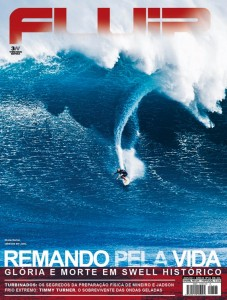 Dorian gets cover of Brasil's - Fluir surfing magazine