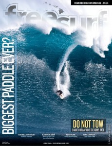 Shane Dorian paddles into JAWS, get's FREESURF magazine cover!