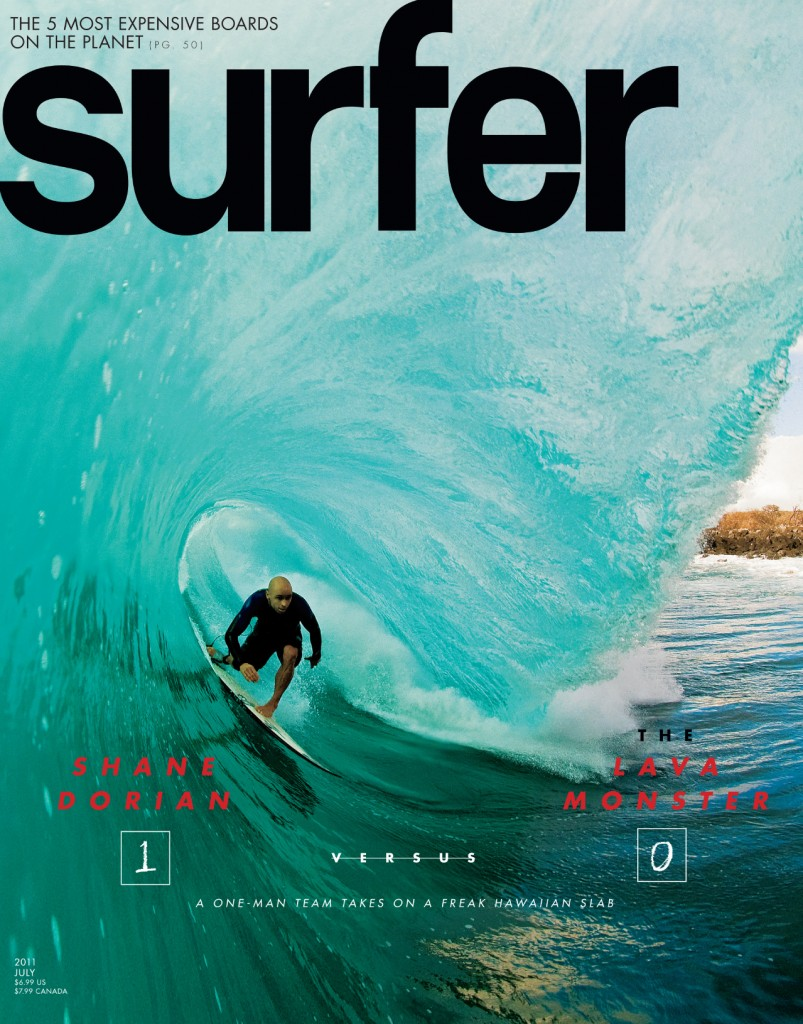 Shane Dorian's July 2011 SURFER cover