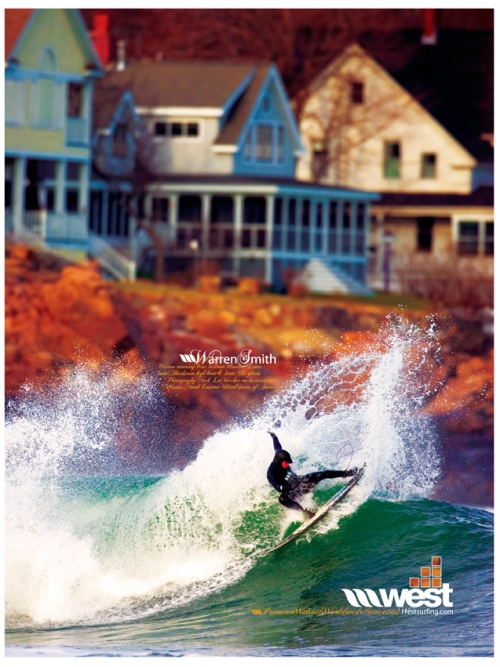 West wetsuit ad - shot in Maine by Nick Leveccia