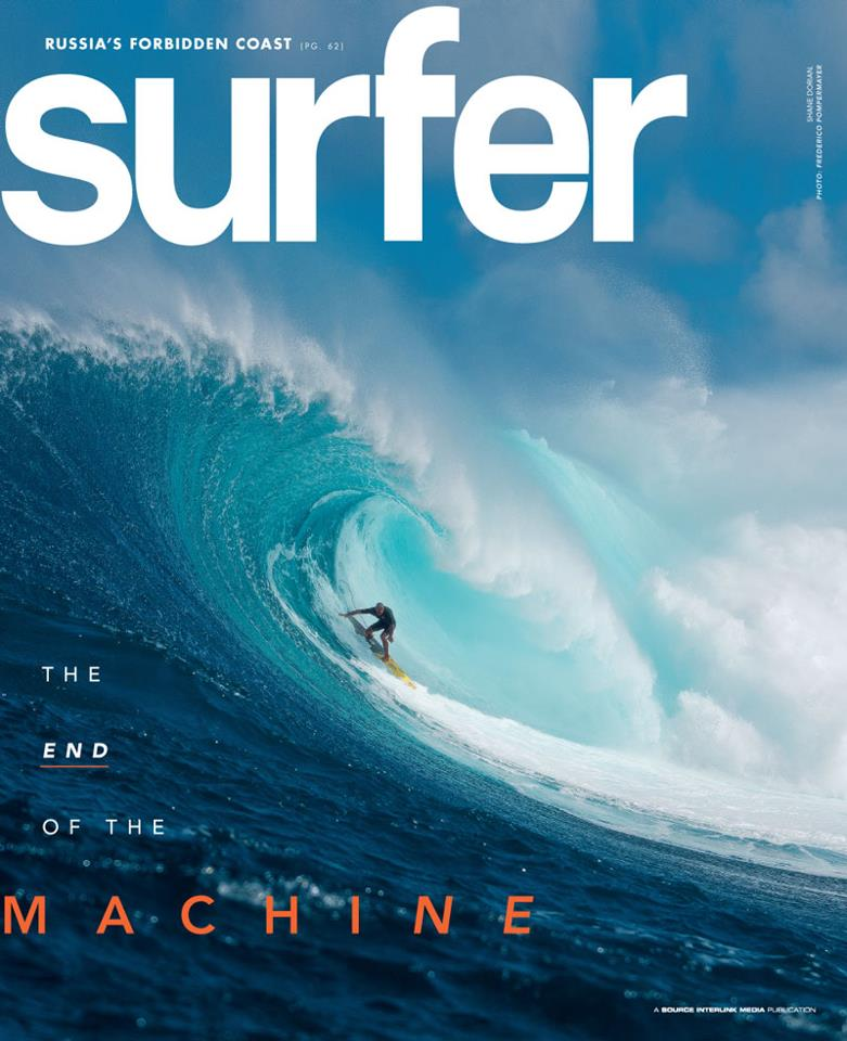 Dorian lands the January 2013 cover of SURFER Magazine!