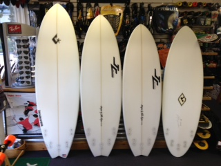 New Fish shape surfboards @ Living Water - 6'6, 6'0, 5'8, 5'8