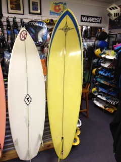 used - 6'0 Orion tri fin  and 7'6 Jacobs single fin
