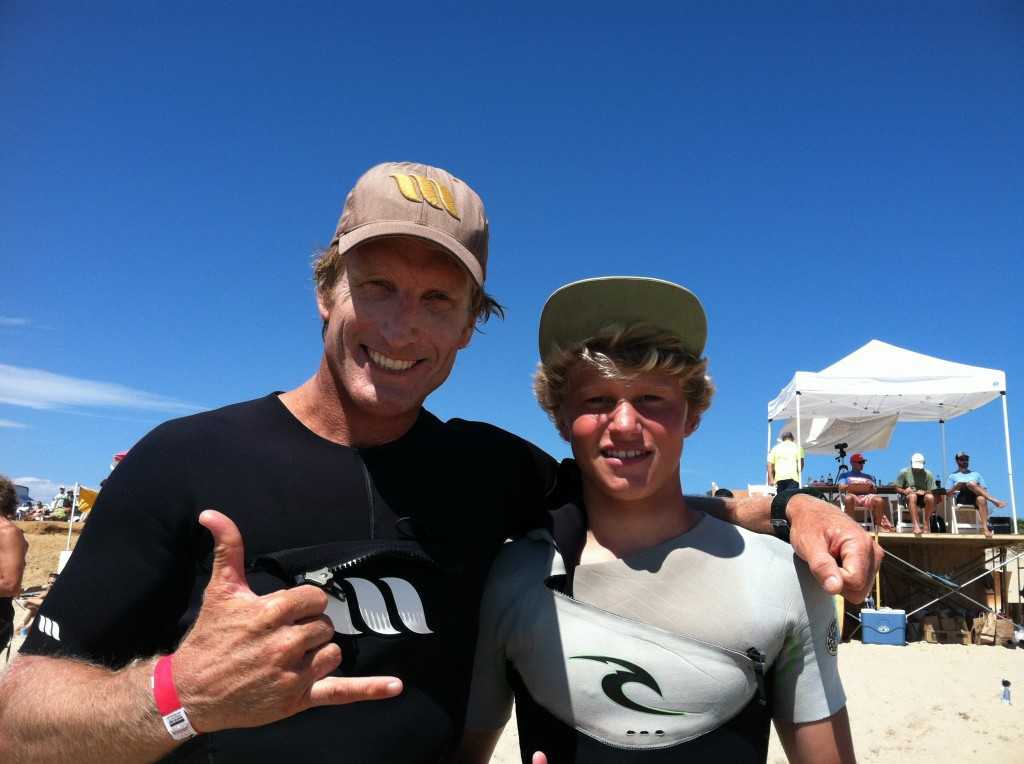 Chuck and Corren @ Nantucket Ozone Surf Contest, Stoked!