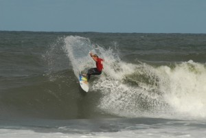Chuck Barend slashing in North Carolina in his WEST wetsuit!
