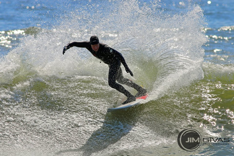 Chuck feeling lively, warm, and toasty in his Rip Curl gear!