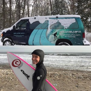 Winter is here and Maria is staying tropical in her new Rip Curl Hooded wetsuit!