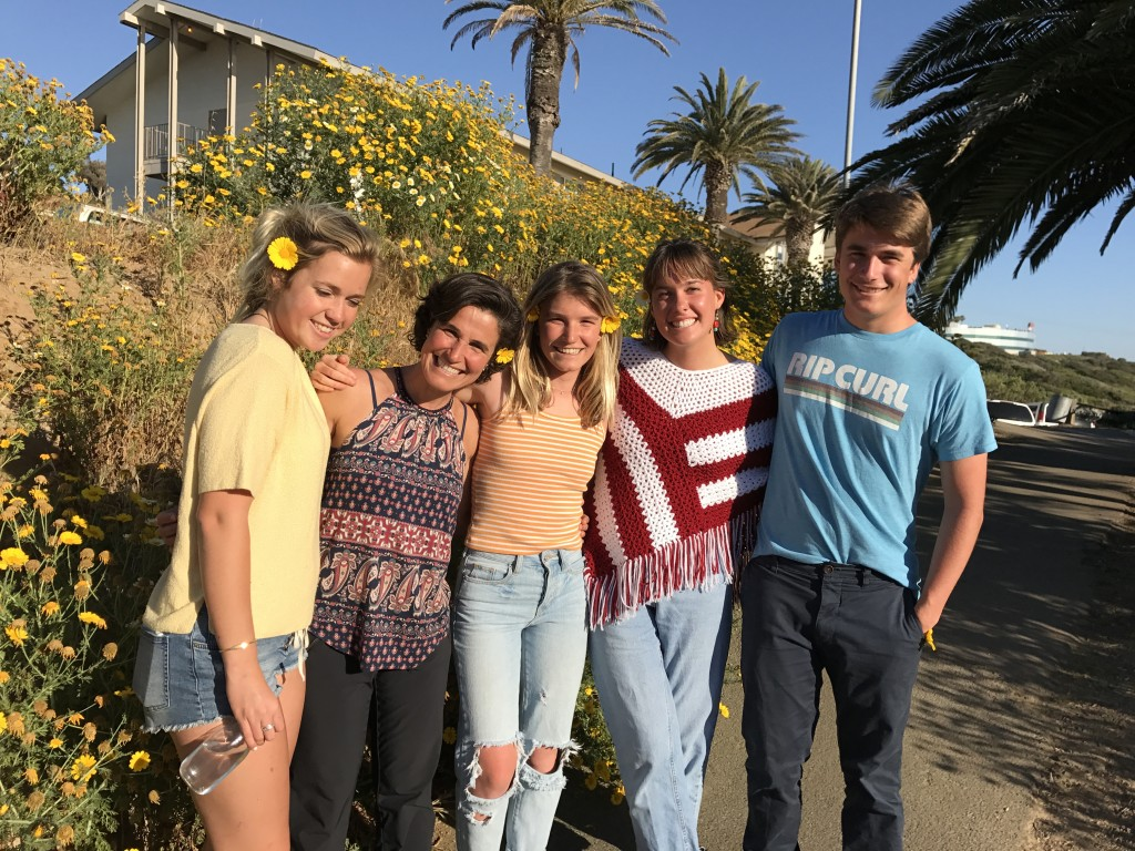 We visited friends at their college which is located on a bluff which overlooks world class waves, these surfer girls are living the dream!